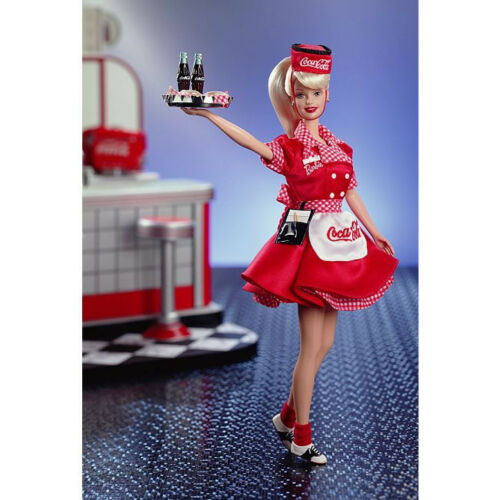 NEW CocaCola Barbie as a Waitress 1998 Barbie collector edition # 22831 FS