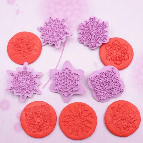 5pcs//set  Mandala Lace Embossing DIY Plastic Stamp Clay Sculpture Dotting Tools//