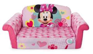 MINNIE MOUSE Plush KIDS CHAIR Fold Out Padded Sofa Bed ...