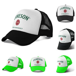 6ba6a872456a1 Jameson Irish Whiskey Trucker Hat Mesh Hat Black Lime Snapback Hat ...