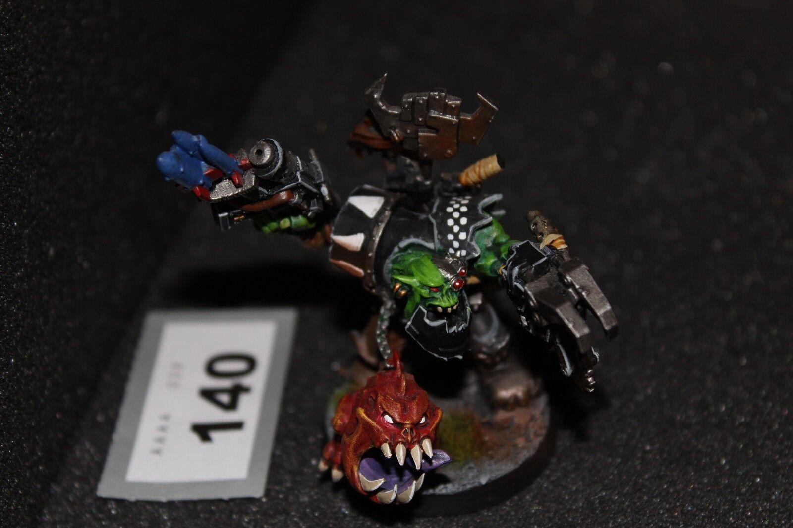 Games Workshop Warhammer 40k Orks Warboss Grukk Facerippa Well Painted Figure
