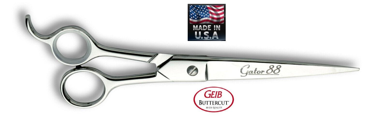 GEIB Buttercut GATOR 88 STRAIGHT PRO Shears 8 12 PET DOG CAT Grooming Scissors