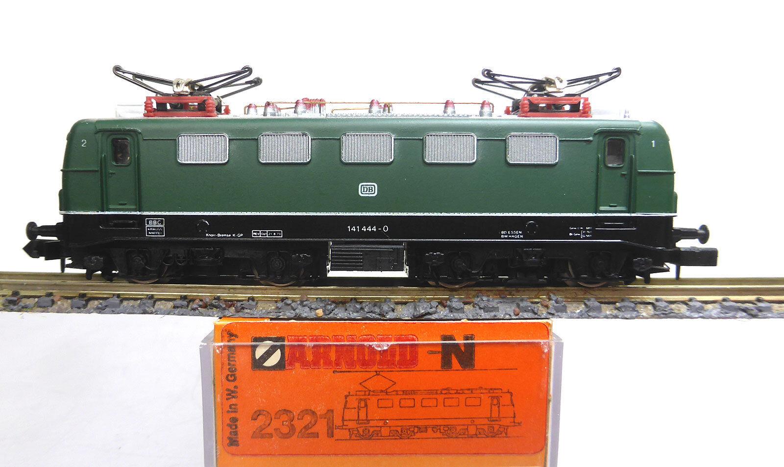 Arnold n 2321; tren de carga-ellok 141 444-0 DB, verde, en OVP d938