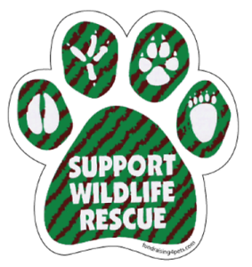 Support Wildlife Rescue Paw Print Magnet