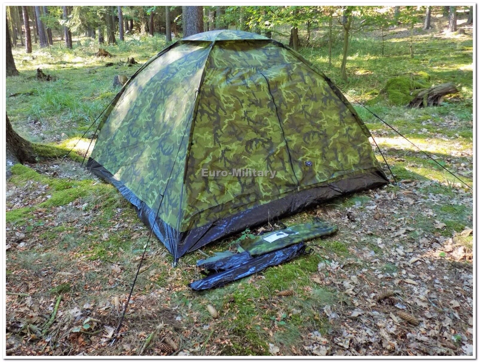 Military Tactical 3 Man Outdoor M95 Czech Army Camo Shelter Tent - Factory New