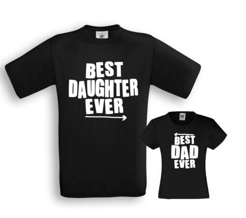 Best DAD Daughter ever Papa Familie Tochter Tochter Partner Shirts Vater