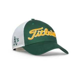 fa5f9276b43 New 2017 Titleist Golf MLB Twill Mesh Hat Adj. Oakland Athletics ...