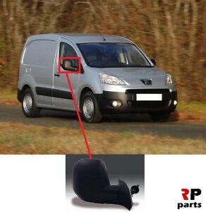 Peugeot Partner 2008-2012 Door Mirror Electric Black O//S Driver Right