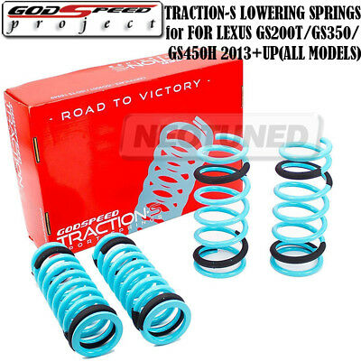 Godspeed Tractions-S Lower Lowering Spring 2//1.7 for GS300 GS350 GS460 06-11 RWD