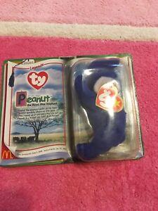 a72f845fb62 Image is loading Peanut-the-Royal-Blue-Elephant-Ty-Teenie-Beanie-