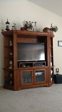"""tv cabinet / armoire with glass doors. Fits 50"""" TV . Perfect Condition"""