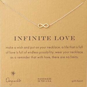 Detalles De Collar Dorado Frase Infinito Amor