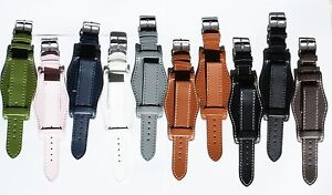 Military-bund-leather-cuff-watch-strap-Add-a-strap-tool-and-new-pins-1