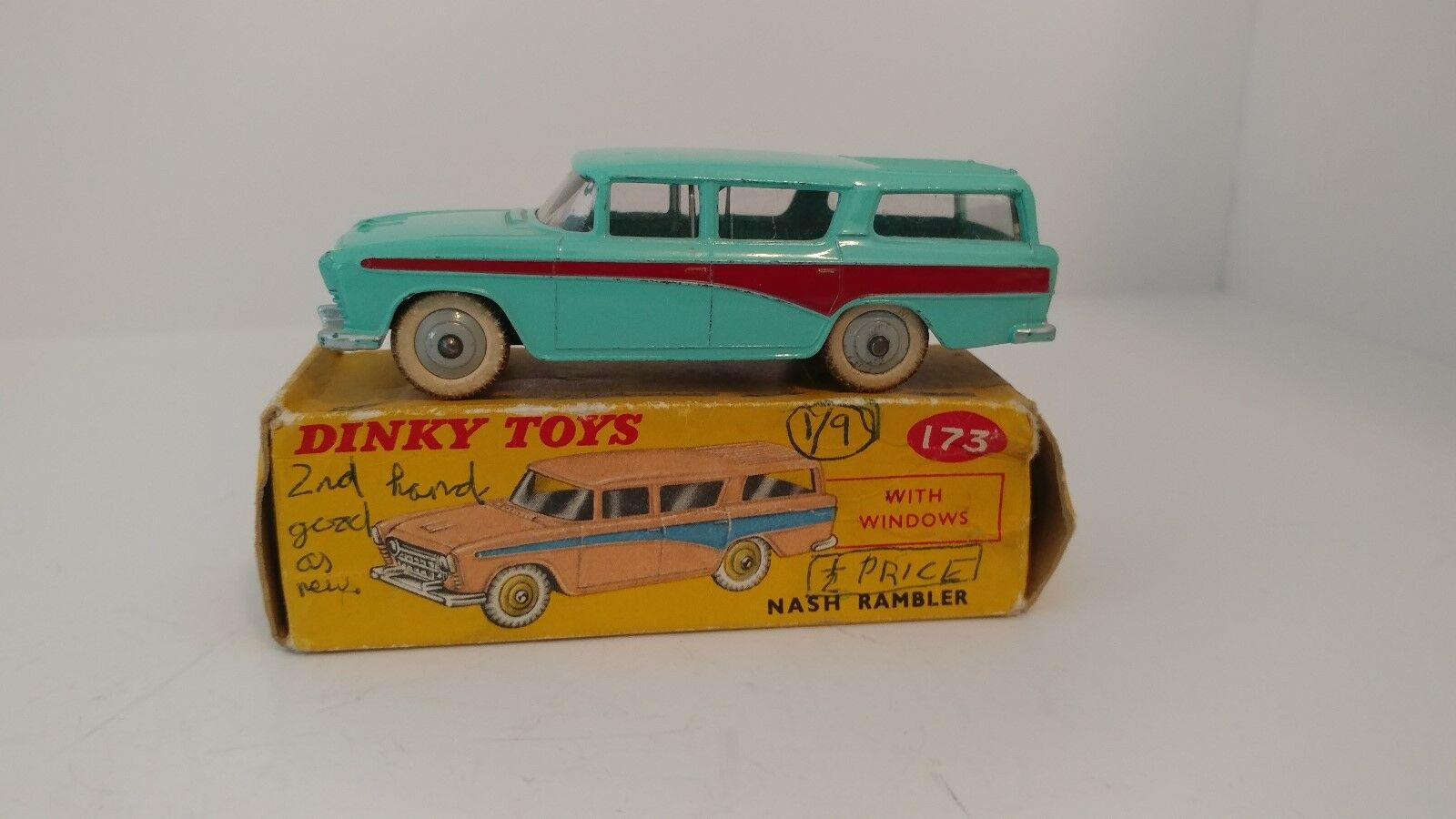 Dinky 173 Nash Rambler, 1958-1959 Early Issue with Number on base Near Mint