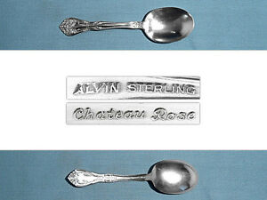 ALVIN STERLING SERVING SPOON ~ CHATEAU ROSE ~ NO MONO