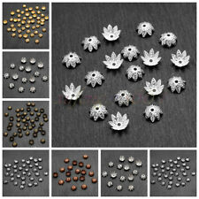 500 PCS Wholesale Gold //Silver Plated Flowers Bead Caps Jewelry Findings 21mm