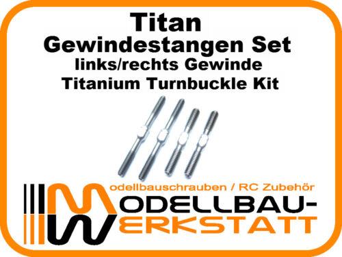 7-6 ECO Spurstangen Turnbuckle Kit Titan Gewindestangen Set Mugen MBX-8-7R