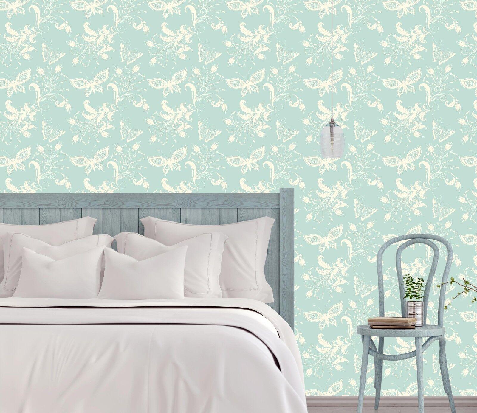 3D Green Floral  851 Wallpaper Mural Paper Wall Print Indoor Murals CA Summer