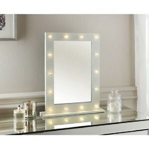 moderne hollywood 14 ampoule led miroir de courtoisie coiffeuse cadre blanc neuf ebay. Black Bedroom Furniture Sets. Home Design Ideas