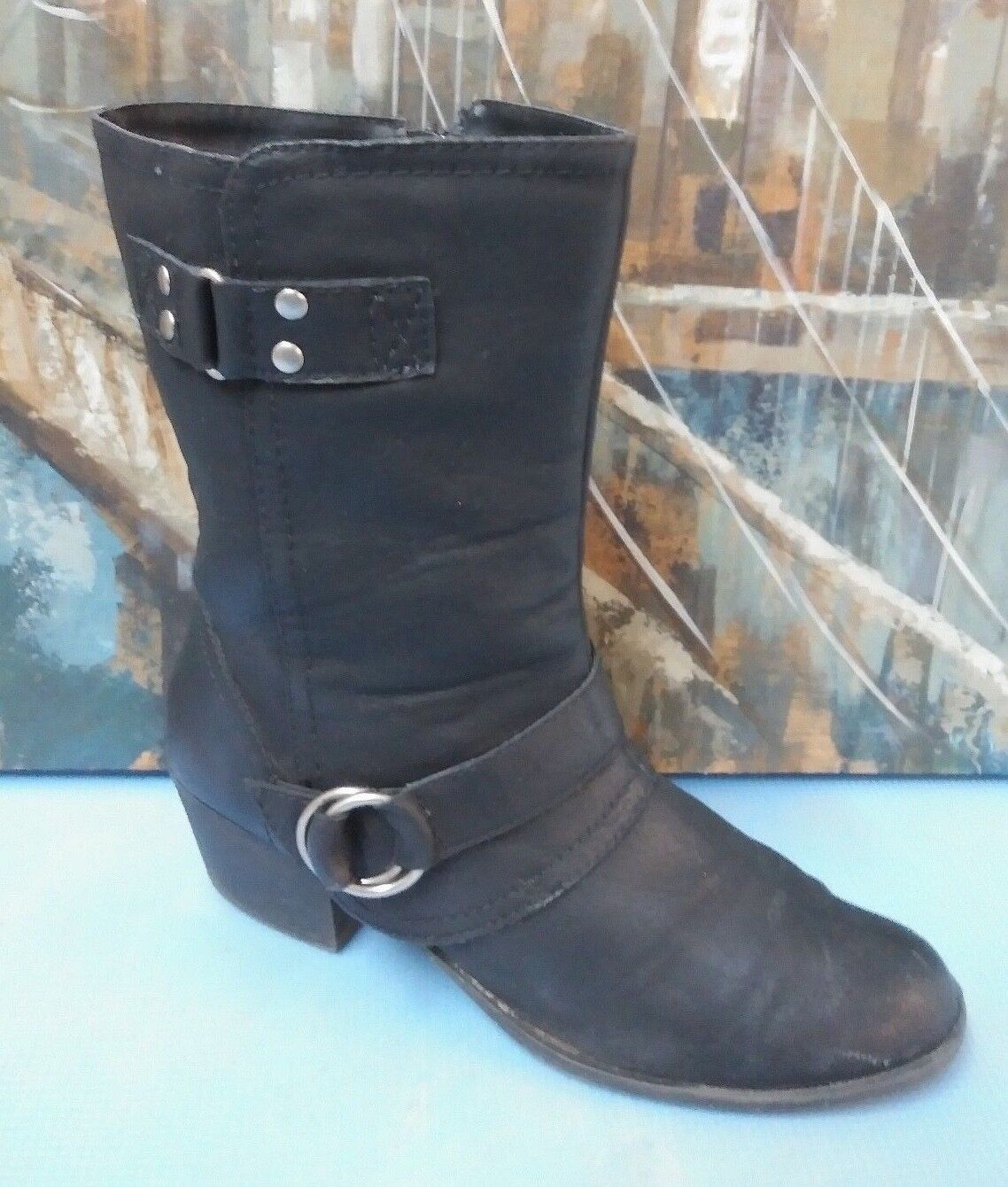 Rampage Womens Black Boots Size 11 M Smells like leather