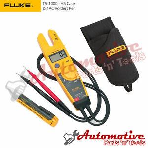 Genuine-UK-Fluke-T5-1000-Electrical-Tester-H5-Holster-Case-amp-1AC-VoltAlert-Pen