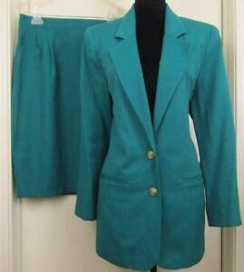 Women S Sag Harbor Skirt Suit Green Size 10 Office Church Ebay