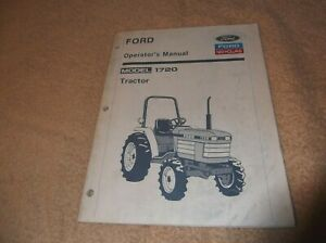 Details about FORD NEW HOLLAND MODEL 1720 TRACTOR OPERATORS MANUAL on