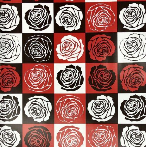 Toile Cirée Nappe au mètre Roses Patchwork Moderne k172a rectangulaire environ ovale