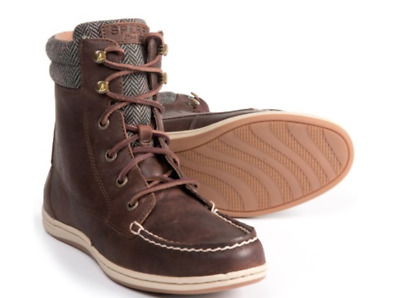 NEW SPERRY BAYFISH BROWN LEATHER COMBAT