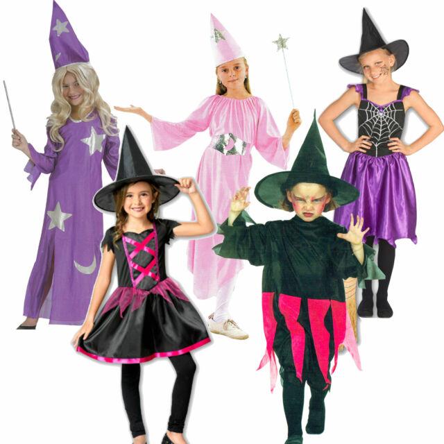Mädchen Damen Hexenkostüm Zauberin Spinnenkönigin böse Fee Halloween Karneval