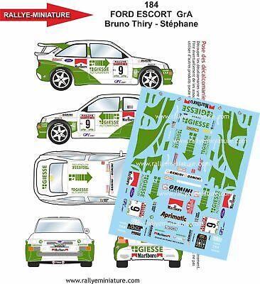 DECALS 1//43 REF 0380 PEUGEOT 206 WRC PANIZZI RALLYE SAN REMO 2001 RALLY