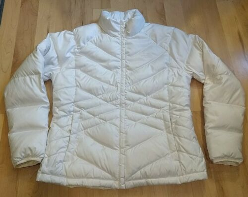 The North Face 550 Off White Full Zip Down Puffer