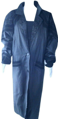 Womens Greg Bell Leather Coat Womens XL Trench Sue