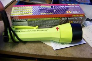 Details about nib Pelican Products 2020-000-245 SabreLite Recoil LED, 3C,  Yellow