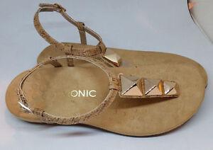 e3da129c764c Womens Vionic Size 9 GOLD CORK Orthaheel Nala T-Strap Sandals Dressy ...