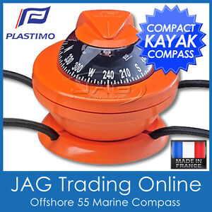 PLASTIMO OFFSHORE 55 KAYAK ORANGE COMPASS - Boat/Marine/Touring/Hiking/Orienteer