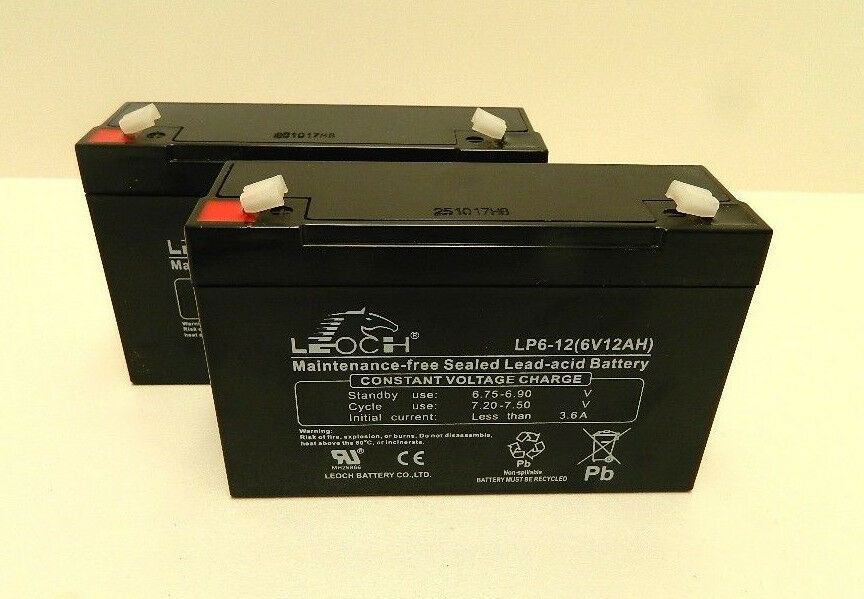 2 X 6 VOLT 12AH BAIT BOAT BATTERIES TO FIT MICROCAT 47% LONGER RUNNING .CHARGED.