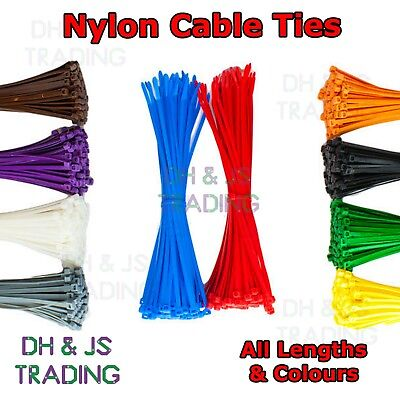 STRONG BLACK CABLE TIES TIE WRAPS ZIP TIES TIDIES 160mm x 2.5mm HIGH QUALITY