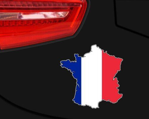 Frankreich Aufkleber Autosticker in Landesfarben der Trikolore  2 Größen
