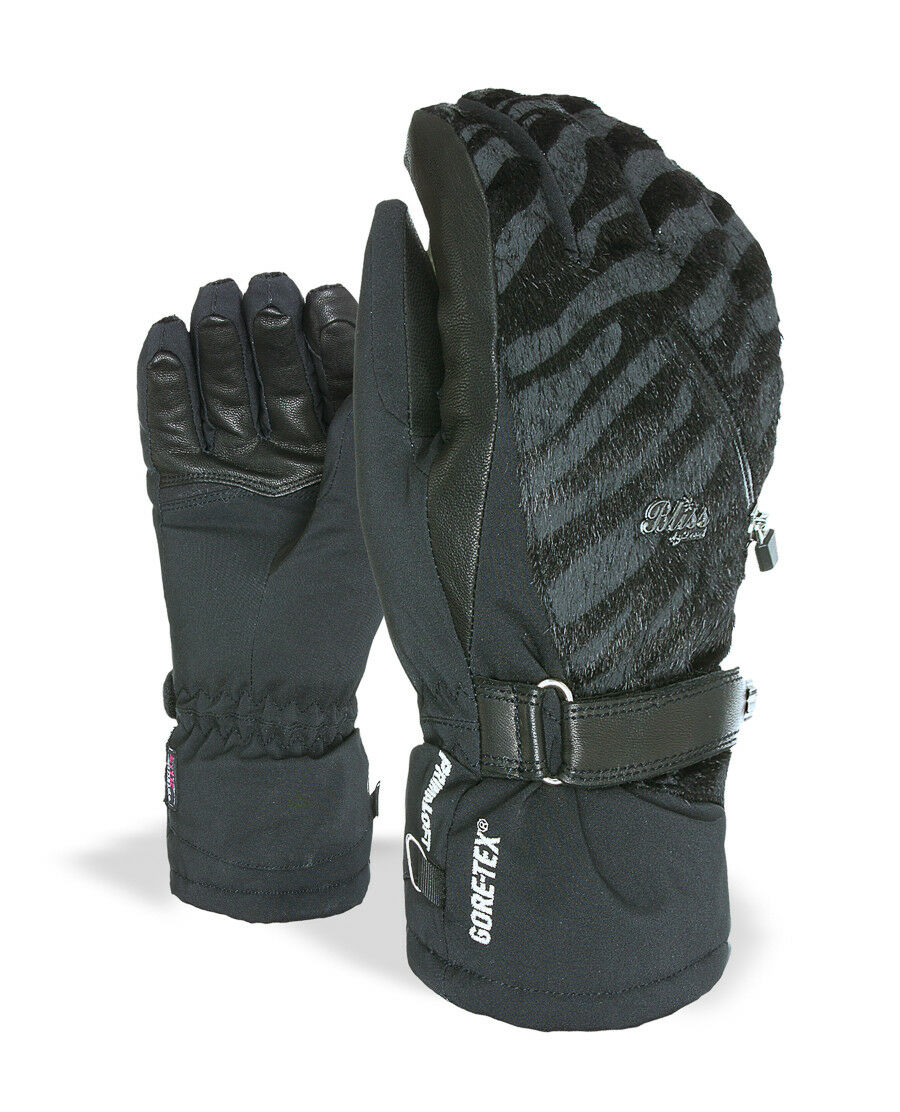 Level Lederhandschuh Fingerhandschuh Bliss I-Crystal Gore Tex schwarz