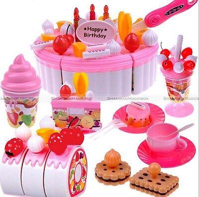 Birthday Decoration Cake Set Pretend Play Kids Kitchen Play Food Toy