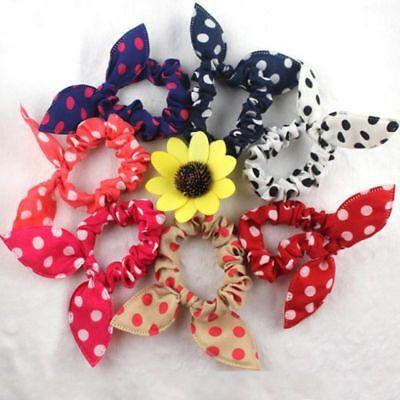 10PCS 5 Pairs Baby Girls Hair Bows For Kids Hair Bands Rabbit Ear Hair Clip