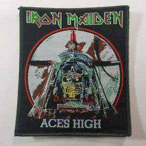 IRON MAIDEN ACES HIGH WOVEN PATCH