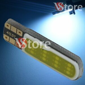 2 Led T10 Lampade Gel Silica 12 Chip Cob No Errore Canbus Bianco Interno Xenon Confortable Et Facile à Porter
