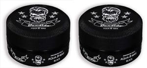 2 x Bandido Aqua Hair Gel Wax Black - 150ml - Maximum Hold Pomade
