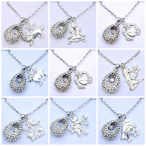 Star Sign Horoscope Astrology Zodiac Necklace Pendant Leo Gemini Aries Pisces Neue Sorten Werden Nacheinander Vorgestellt Costume Jewellery Jewellery & Watches