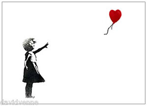 Girl with Red Balloon Canvas Giclee 8 x 10 inch Print Banksy reproduction