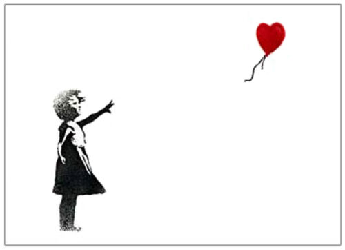 Banksy reproduction Girl with Red Balloon Canvas Giclee 8 x 10 inch Print