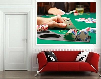 POKER CASINO PICTURE PRINT POSTER WHOLE POSTER A0