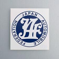 JAF JAPAN AUTOMOBILE FEDERATION STICKER DECAL MAZDA 808 RX3 RX2 MX5 RX7 R100